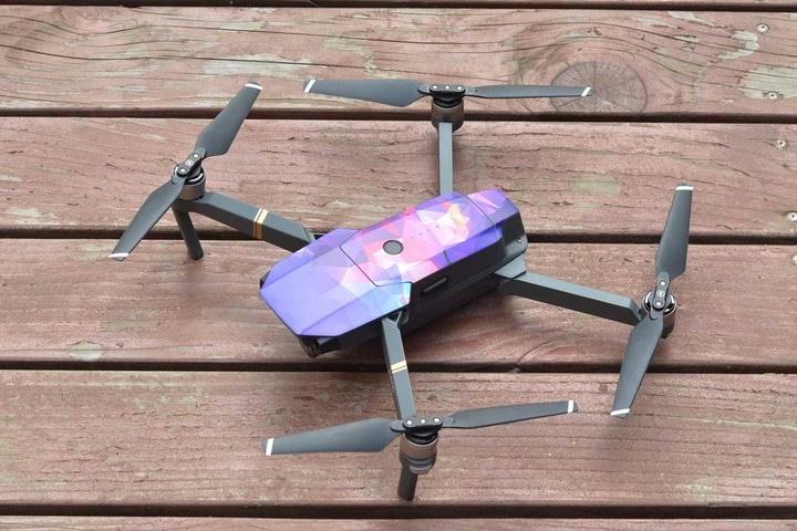 Защита Pgytech Skins для Mavic Pro фиолетовый-3