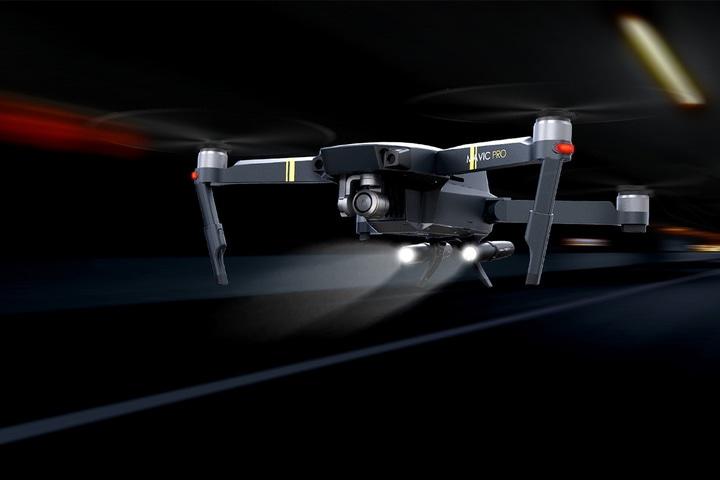 Комплект шасси с подсветкой и ножек для Mavic Pro (Pgytech — Mavic Pro LED Headlight Set & Landing Gear Extensions)-5