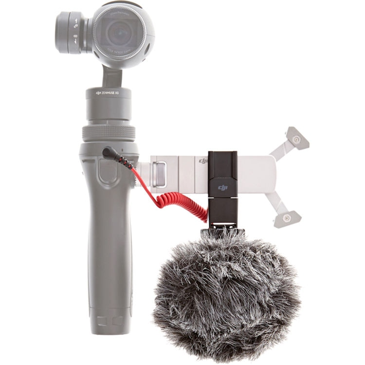Микрофон RODE VideoMicro и быстросъемное 360° крепление для DJI Osmo-3