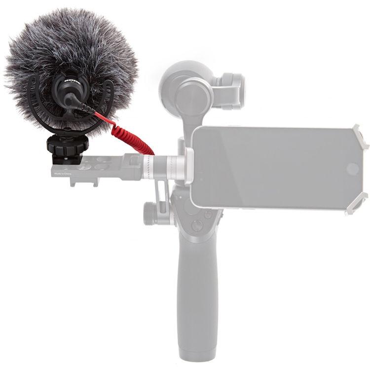 Микрофон RODE VideoMicro и быстросъемное 360° крепление для DJI Osmo-4