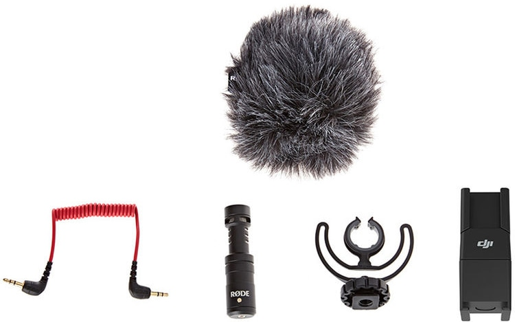 Микрофон RODE VideoMicro и быстросъемное 360° крепление для DJI Osmo-7