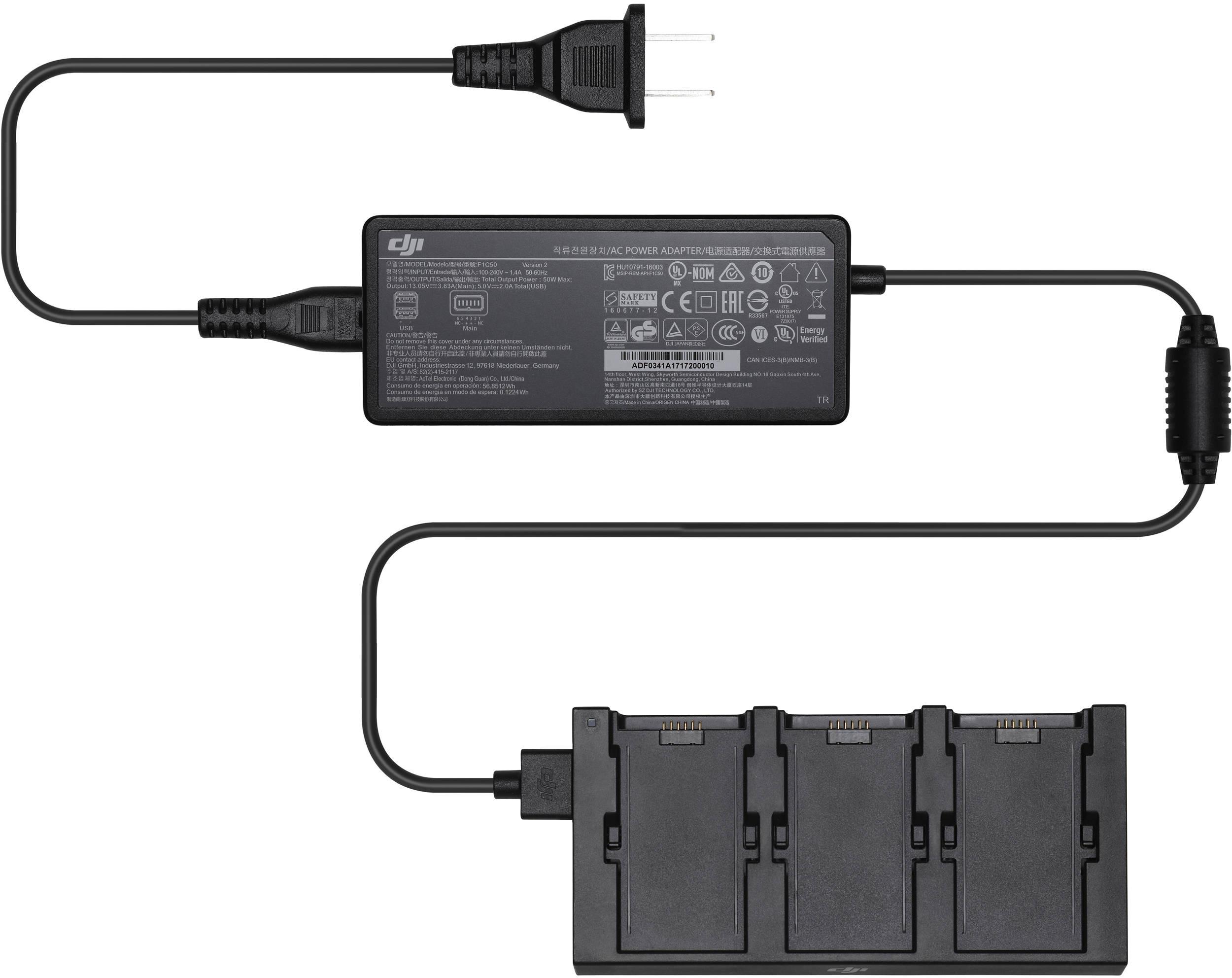 Зарядный хаб для 3 батарей Spark Battery Charging Hub-1