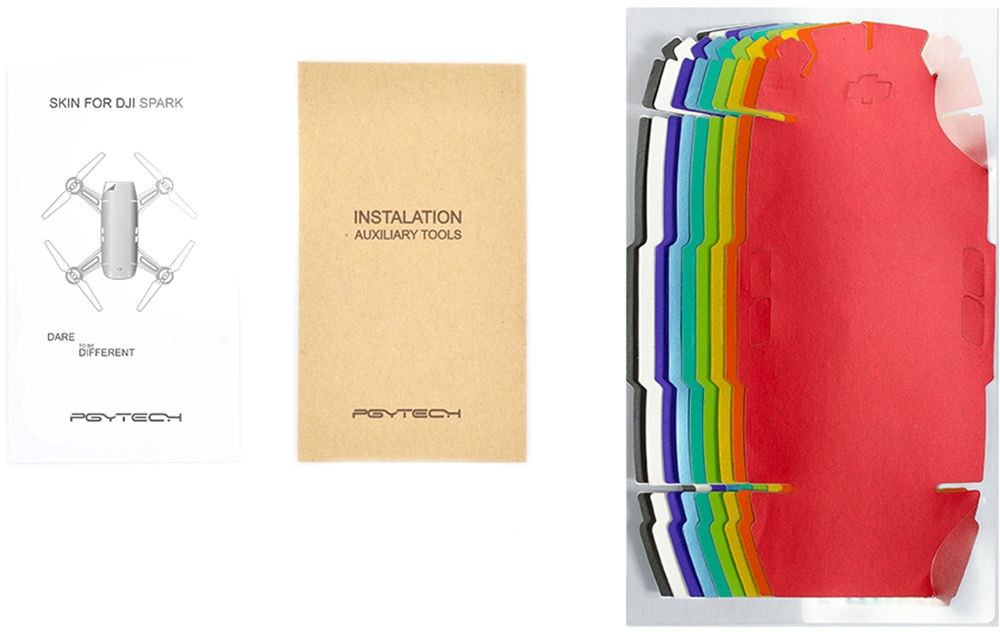 Набор полноцветных наклеек PGYTECH Skin Colorful Set для DJI Spark-2