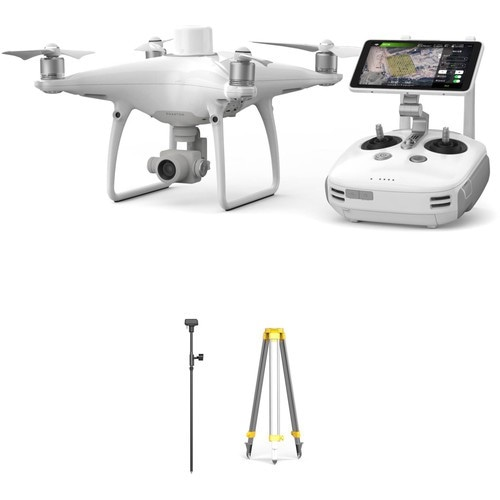 Дрон DJI Phantom 4 RTK и мобильная станция DJI D RTK 2-1