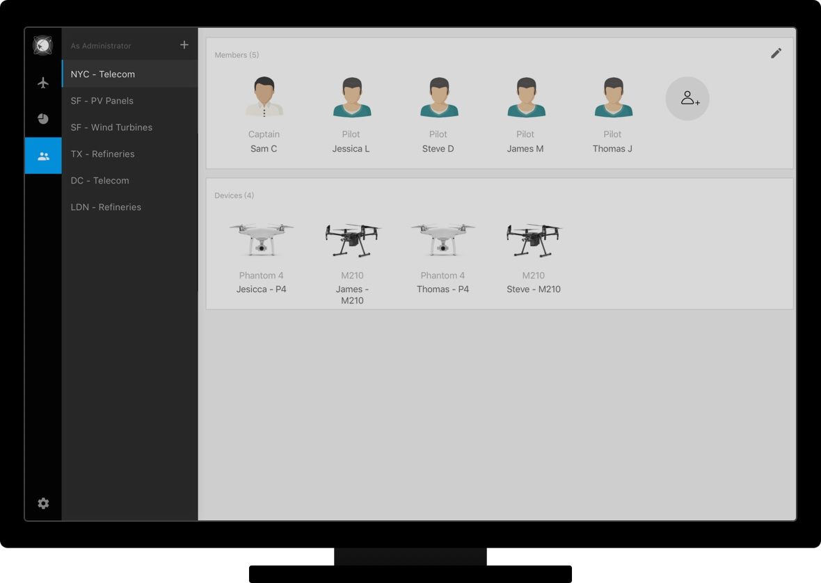 Программное обеспечение DJI FlightHub Government 1 год 2 дрона-2